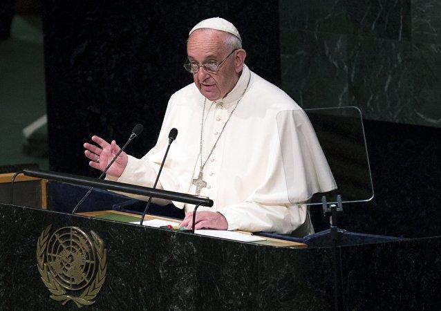 Papa Francesco alla conferenza ONU
