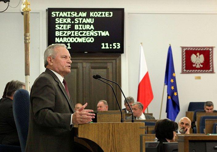 Stanislav Koziej al parlamento di Varsavia
