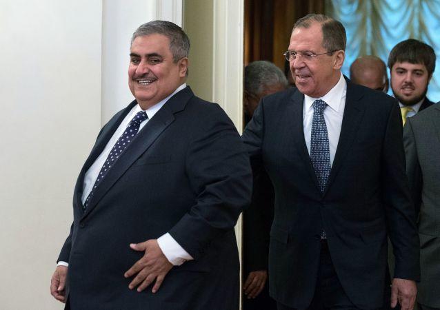 Khalid Al Khalifa e Sergey Lavrov