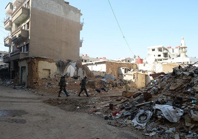 Sobborghi di Damasco dopo attacco missilistico