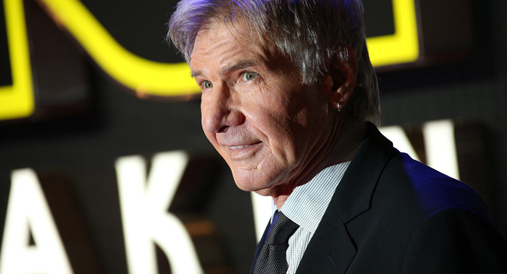 Harrison Ford durante la prima del film 'Star Wars a Londra.