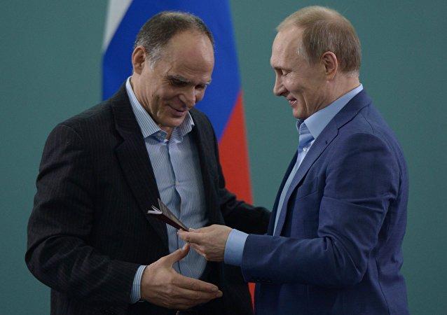 Vladimir Putin e Ezio Gamba