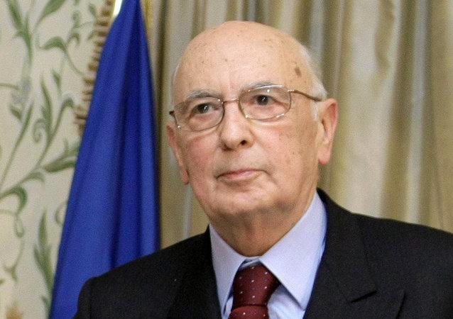 Il Presidente italiano Giorgio Napolitano