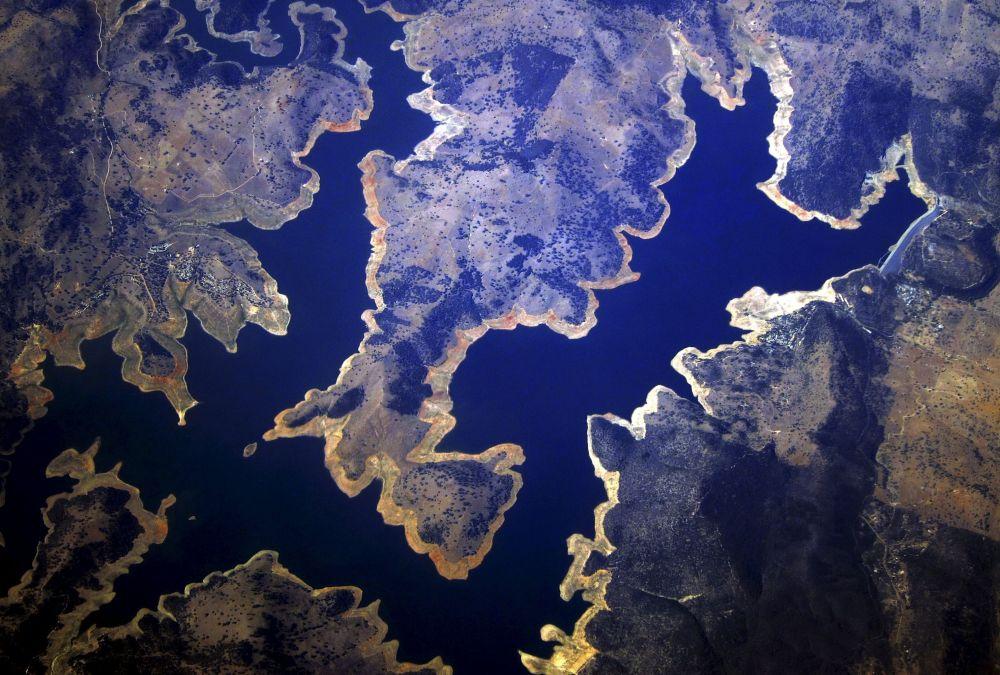 Fotografia aerea delle regioni australiane colpite dalla siccità.