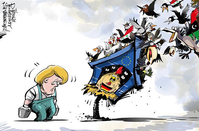 Merkel e i migranti