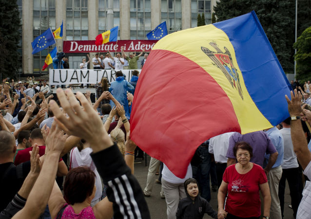 Proteste a Chisinau, Moldavia