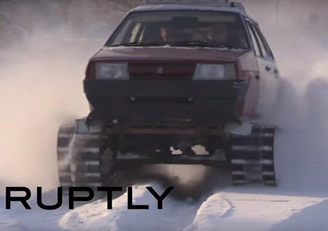 Nel gelo siberiano con la Lada Samara