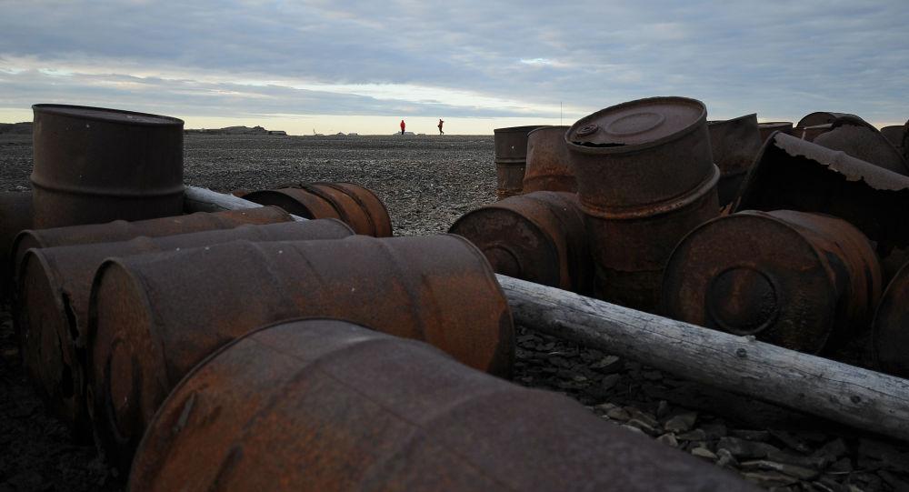 Rifiuti metallici in arcipelago Novaya Zemlya