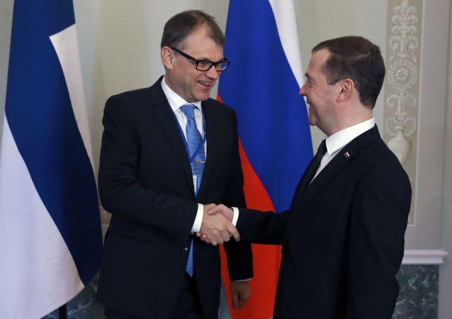Juha Sipilä e Dmitry Medvedev