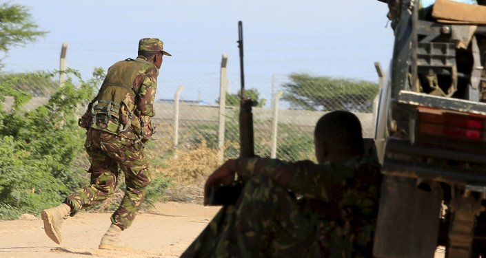 Le Forze di Sicurezza kenyote presso il campus universitario a Garissa