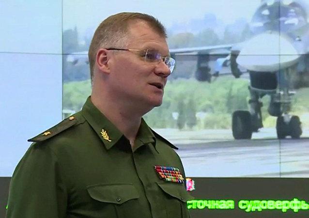 Il generale Igor Konashenkov (foto d'archivio)