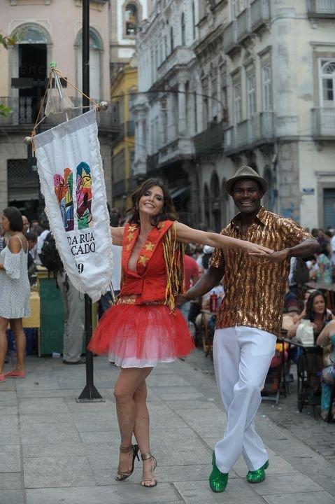 La compagnia di ballo Rua do Mercado al Carnevale di Rio de Janeiro