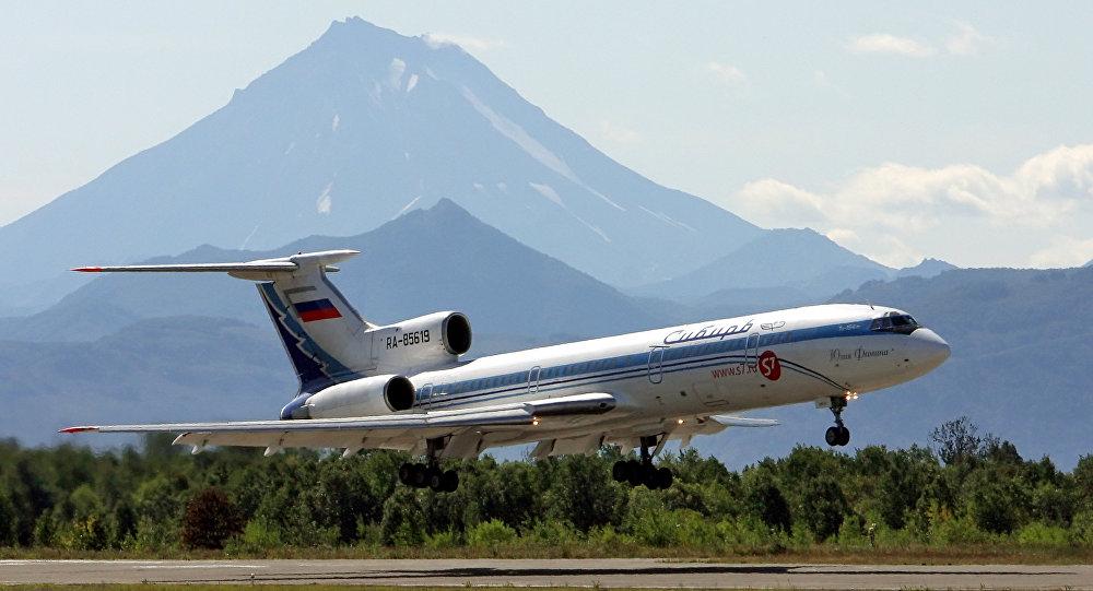 Un Antonov della compagnia Sibir' a Petropavlovsk Kamchatskiy