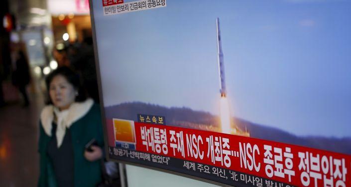 Lancio missile della Corea del Nord in tv