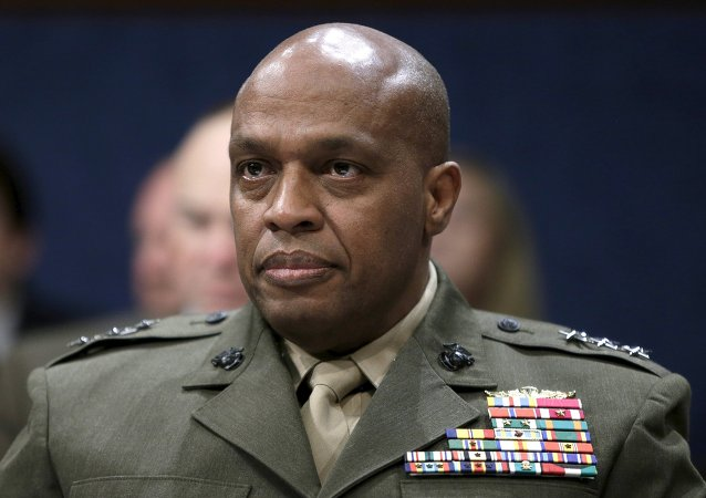Defense Intelligence Agency Director USMC Lt. General Vincent Stewart waits to testify at a House (Select) Intelligence Committee hearing on World Wide Cyber Threats on Capitol Hill in Washington September 10, 2015