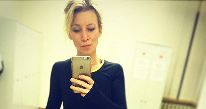 Selfie in palestra per Maria Zakharova