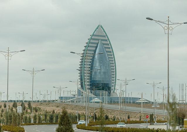Ashgabat, il complesso alberghiero Yildiz, dov'è si è svolto il Turkmenistan International Media Forum