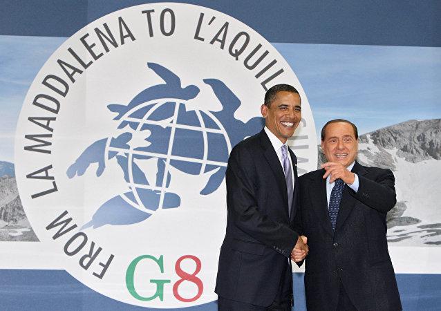 Berlusconi e Obama