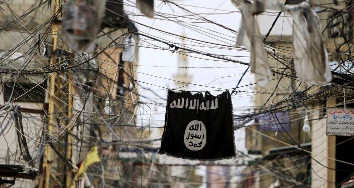 Una bandiera del Daesh