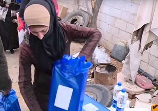 Consegna degli aiuti umanitari russi in Siria