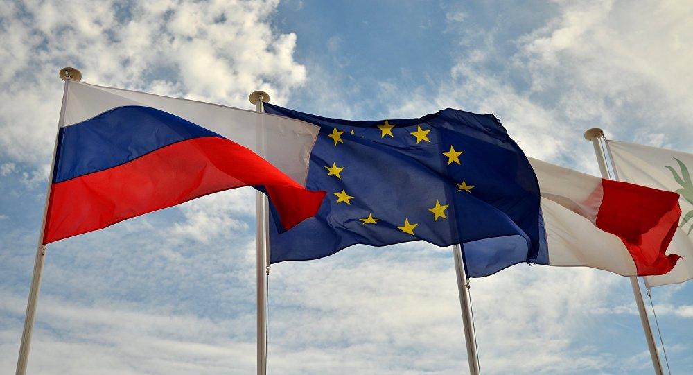 Bandiere di Russia, UE e Francia
