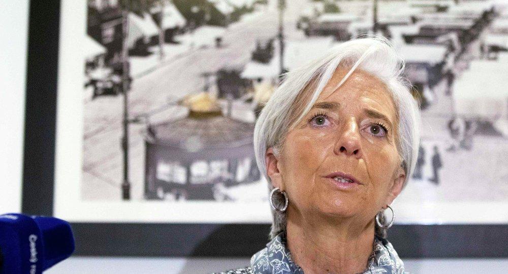 La Direttrice Generale del Fondo Monetario Internazionale (IMF) Christine Lagarde