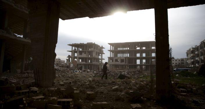 Rovine della guerra in Siria