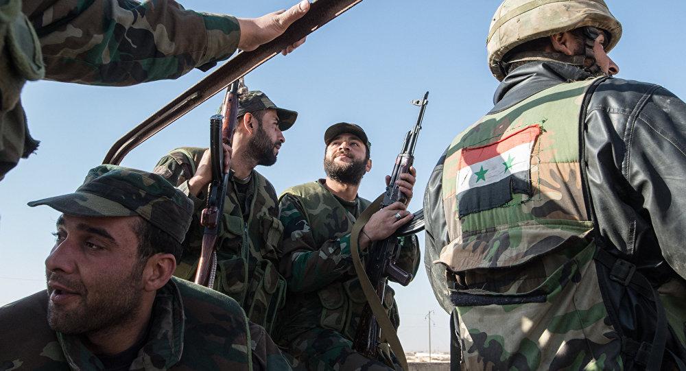 Soldati dell'esercito di Assad