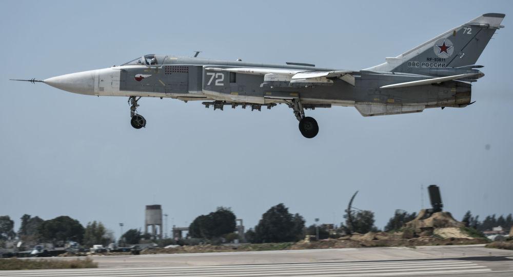 Bombardiere russo Su-24 in Siria