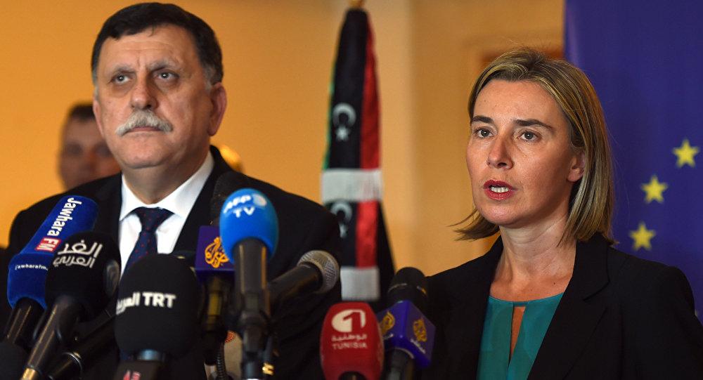 Fayez al-Sarraj e Federica Mogherini