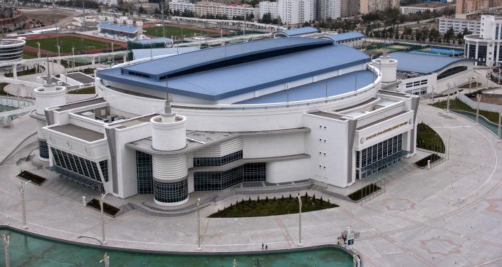 Ashgabat, veduta aerea dell' Arena multisport