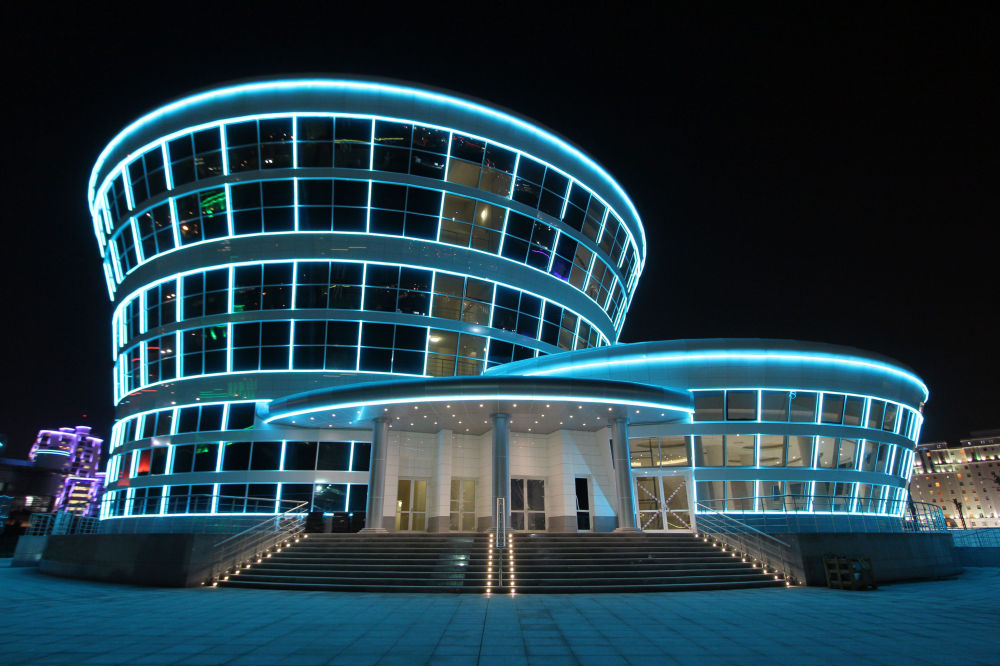 Il ristorante del complesso olimpico di Ashgabat