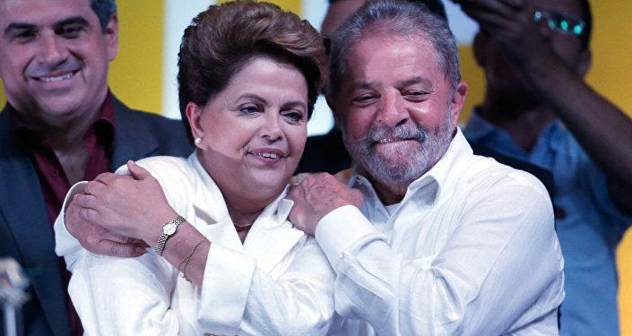 Dilma Rousseff e Lula.