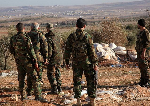 Soldati siriani nei pressi di Deir ez-Zor