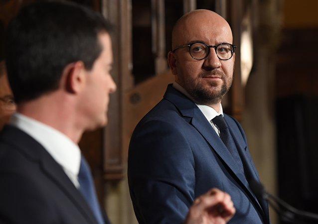 Manuel Valls e Charles Michel