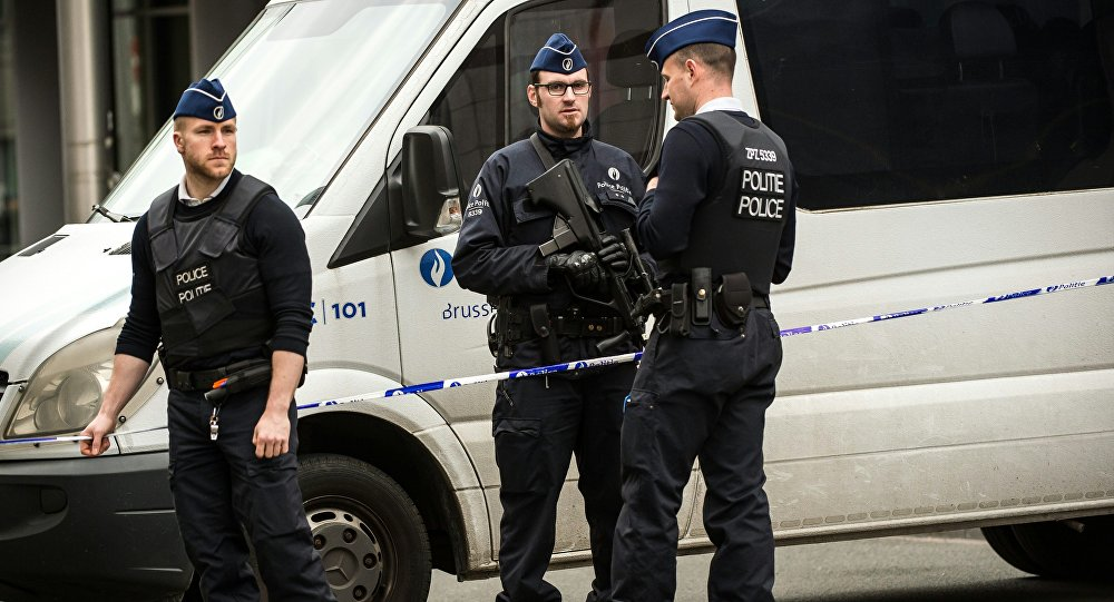 Forze dell'ordine a Bruxelles (foto d'archivio)