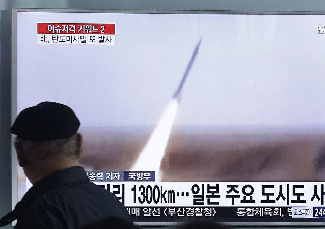 Test missilistico in Corea del Nord (foto d'archivio)
