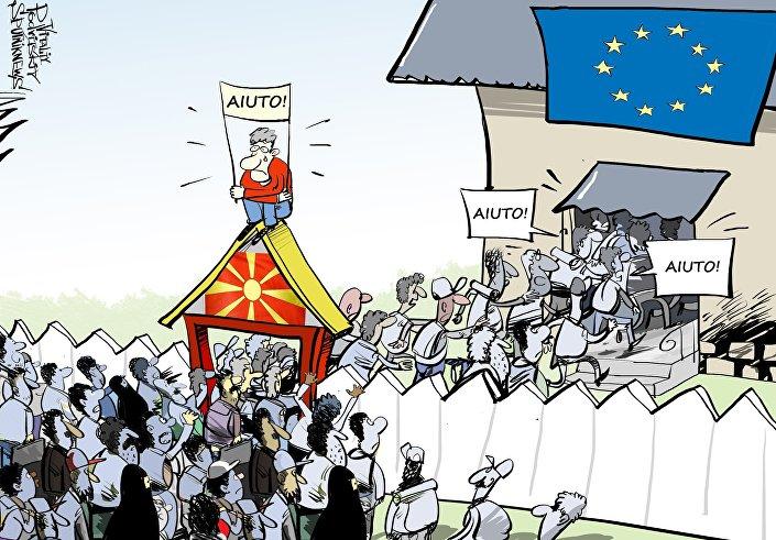 Migranti in Macedonia