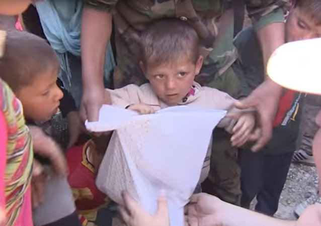 Consegna degli aiuti russi alla popolazione di Aleppo