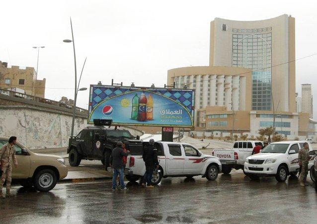 Forze di sicurezza a Tripoli