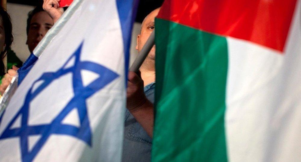 Bandiere d'Israele e Palestina