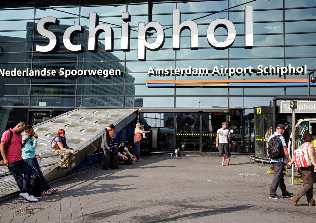 The main entrance of Schiphol airport in Amsterdam