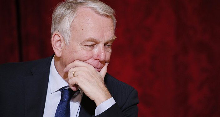French Foreign Minister Jean-Marc Ayrault attends a meeting with a group of International CEO's during a Strategic Attractiveness Council at the Elysee Palace, in Paris, March 22, 2016.