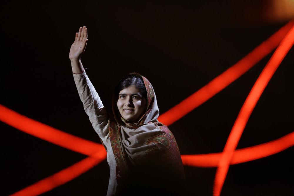 Il premio Nobel per la pace Malala Yousafzai.