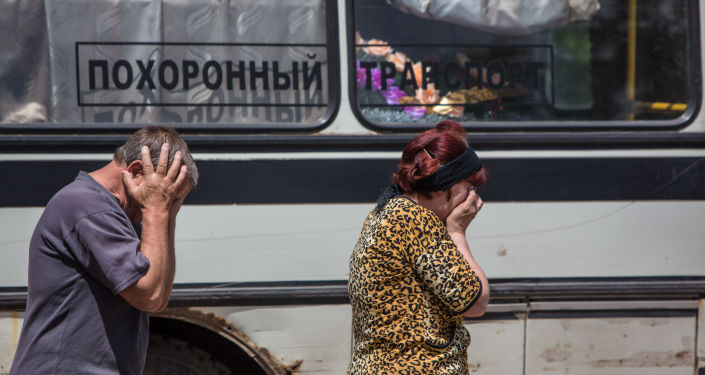 Funerali Donbass guerra