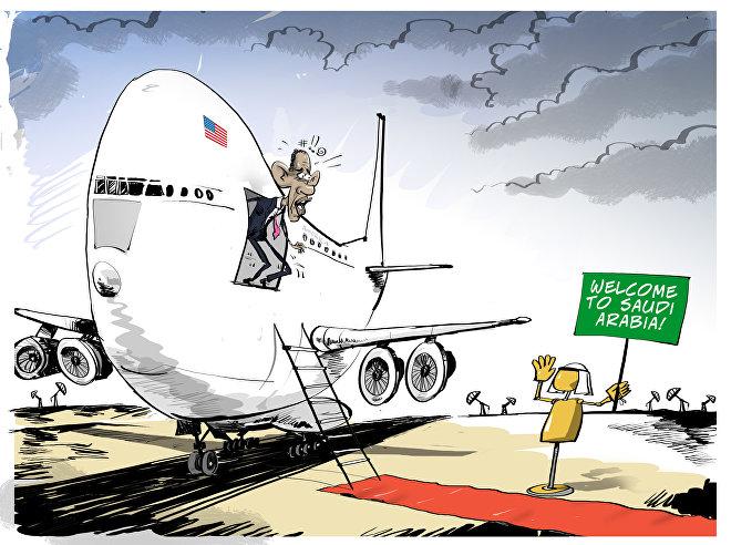 Barack Obama visita l'Arabia Saudita