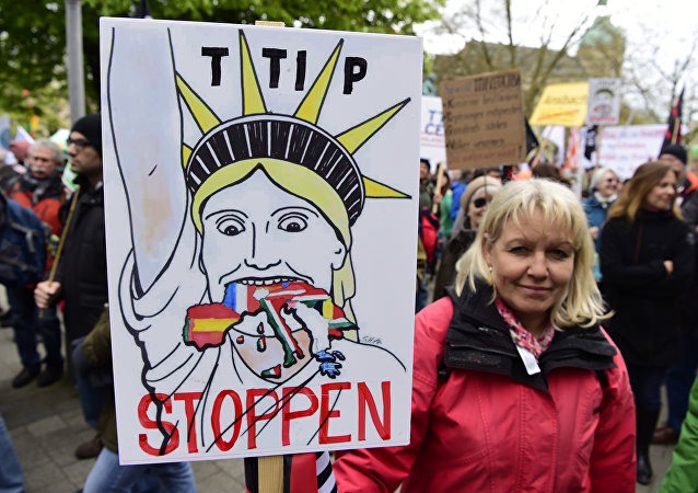 Manifestazione ad Hannover contro TTIP