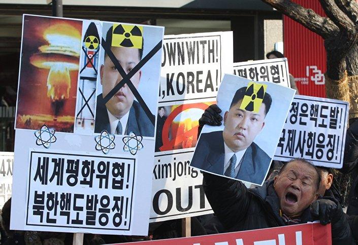 Proteste contro il test della bomba H da parte della Corea del Nord