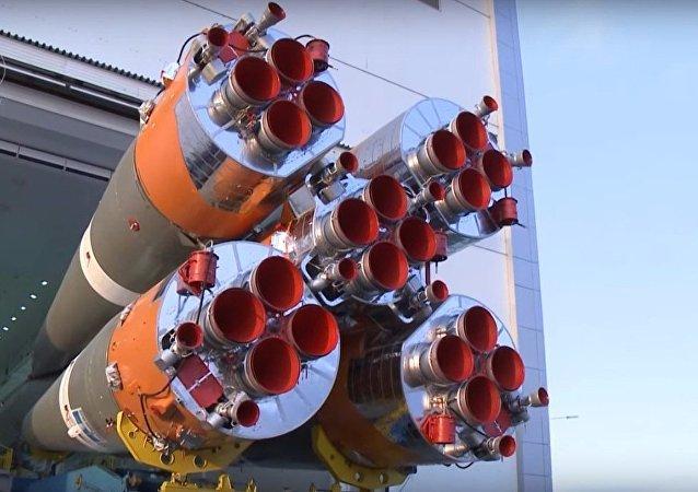 Cosmodromo Vostochny: il razzo pronto al lancio