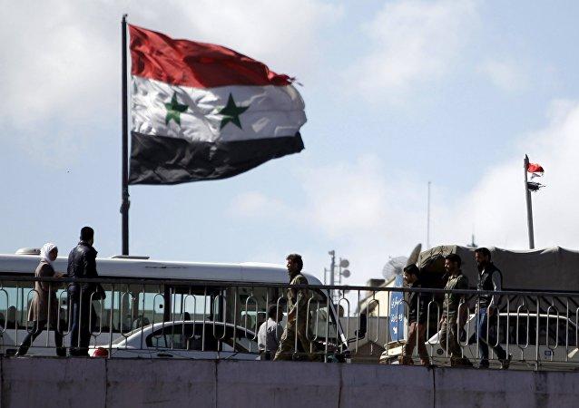 Damasco, bandiera della Siria